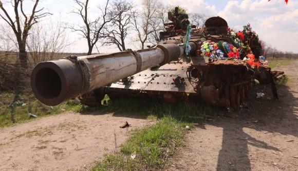 Подбитый танк луганск